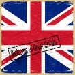 Vintage background with flag of Great Britain - 图库矢量图片