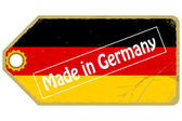 Vintage label with the flag of Germany — Stock Vector