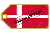 Vintage label with the flag of Denmark — Stock Vector