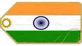 Vintage label mit der flagge von indien — Stockvektor