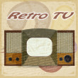 Old television on a vintage backgroundTV on a vintage background — Stock Vector