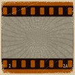 Stock Vector: Vintage background with image frame movie