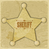 Sheriff's star on the vintage background — Stock Vector
