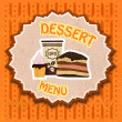 Vintage dessert menu — Stock Vector