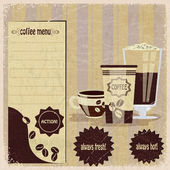 Vintage menu for cafe — ストックベクタ