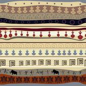 Seamless tribal texture — Stock Vector