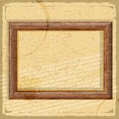 Vintage kaart met een foto van houten kaders en grunge-elementen — Stockvector