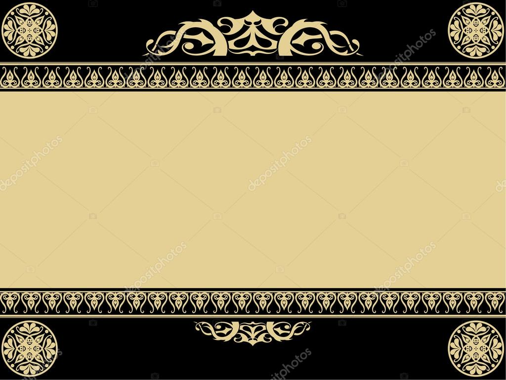 Vintage background with gothic design elements stock for Gothic design elements