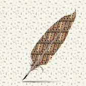 αφηρημένη εικόνα ενός στυλό πένα με απρόσκοπτη υφές — Διανυσματικό Αρχείο