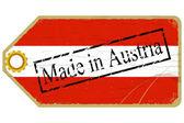 Vintage etykieta flaga Austrii — Wektor stockowy