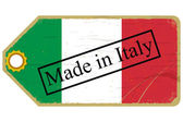 Vintage label with the flag of Italy — Stock Vector