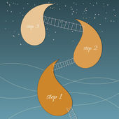 Pozadí abstraktní s schody a prvky návrhu — Stock vektor
