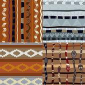 Set of patterns primitive pattern — Stock Vector