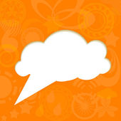 Paper cloud on funky background — Stock Vector