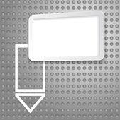 Abstracte techno achtergrond met een papier-sticker voor informatie — Stockvector