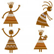 Tribal African womans — Stock Vector