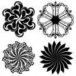 Set of round tattoo elements — Stock Vector