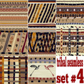 Seamless set of traditional patterns — Stock Vector