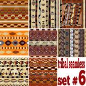 Set of seamless ethnic textures — Stock Vector