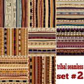 Set of seamless patterns in ethnic style — Stock Vector