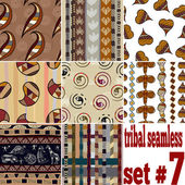 Set of seamless textures of traditional — Stock Vector
