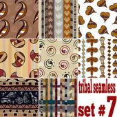 Conjunto de texturas sin fisuras de los tradicionales — Vector de stock