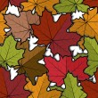 Seamless pattern from maple leaves — Stock Vector