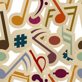 Seamless pattern with music signs — Stock Vector