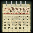 Calendar for January 2014 with an African  — Stock vektor