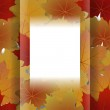 Abstract autumn frame from maple leaves. — Stock Vector