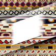 Abstract background with African patterns — Stockvectorbeeld