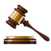 Wooden judges gavel — Stock Vector