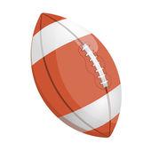 Cartoon illustration of a rugby ball — Stockvektor