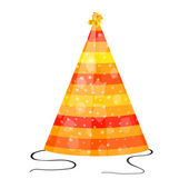Orange hat for party on a white background — Stock Vector