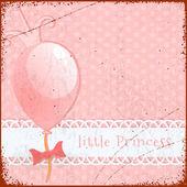 Retro Background Little princess — Stock Vector