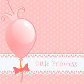 Background little princess — Stock Vector