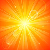 Abstract orange sunny background — Stock Vector