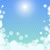 Winter background with sunlight — Stock Vector