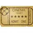 Vintage cinema ticket with grunge — Stock Photo #38449779