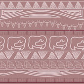 Seamless ethnic pattern in African style — Stock Vector