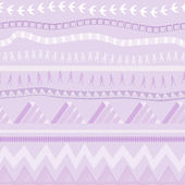 Seamless ethnic pattern in lilac tones — Stock Vector