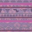 Seamless ethnic pattern with the image of pelicans — Stok Vektör