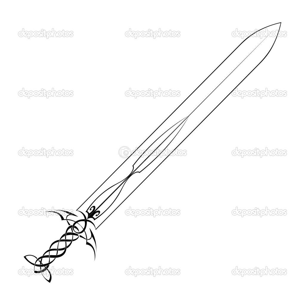 тату меч