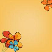 çiçekler sarı arka plan — Stok Vektör