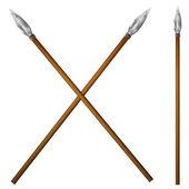 Spear primitive man — Stock Vector