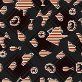 Seamless texture with food — Stockvektor