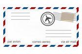 Havayolu zarf — Stok Vektör
