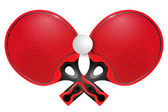 Two professional racket for table tennis on a white background — Stok Vektör