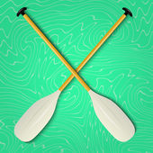 Professional canoe oars — Stock Vector