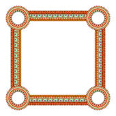 Original Abstract frame in Mexico tribal style. Vector illustrat — Stock Vector
